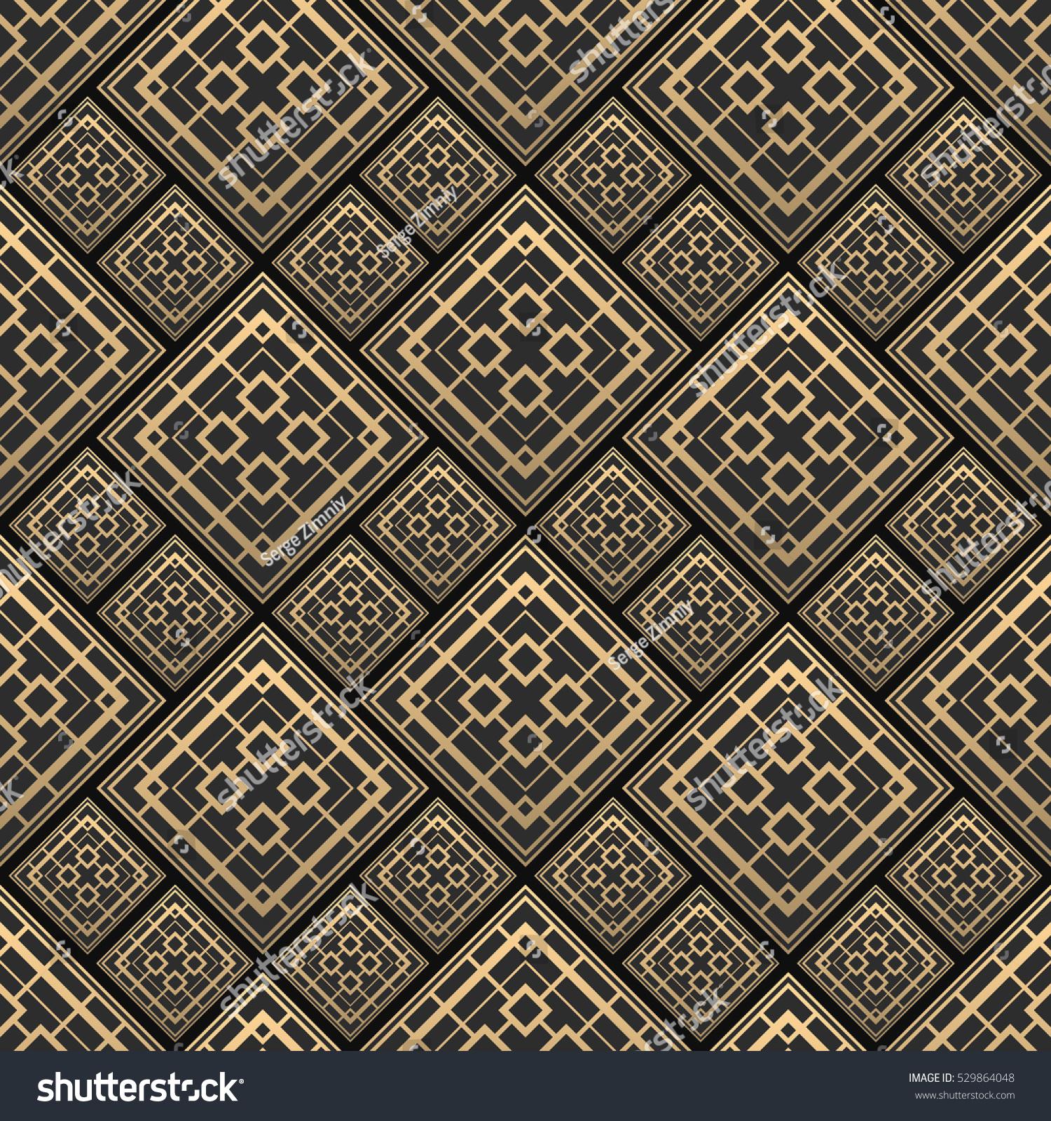 Art deco ceramic tiles images tile flooring design ideas seamless pattern art deco style black stock vector 529864048 seamless pattern in art deco style black dailygadgetfo Images