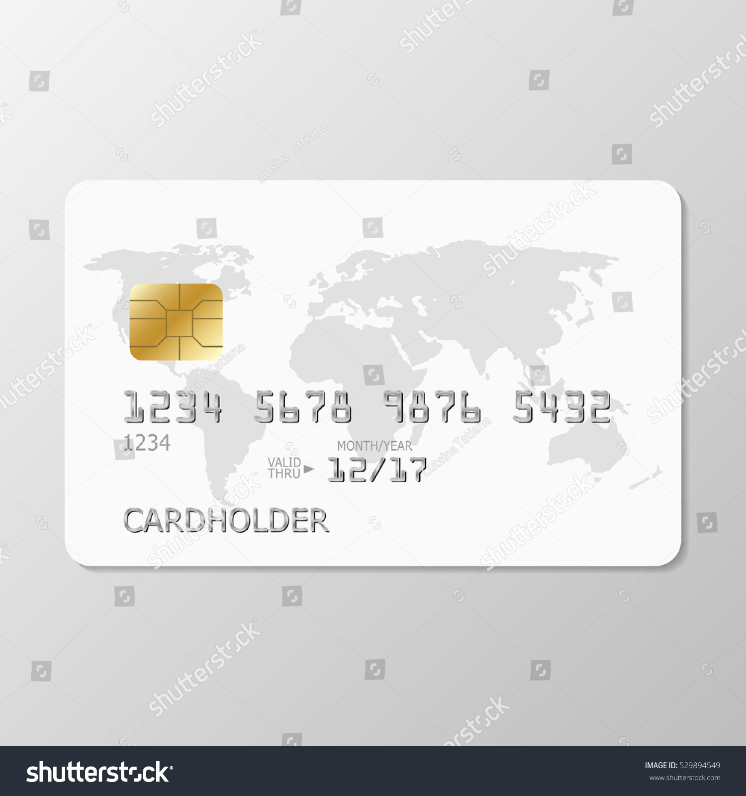 realistic white credit card world map stock vector royalty free