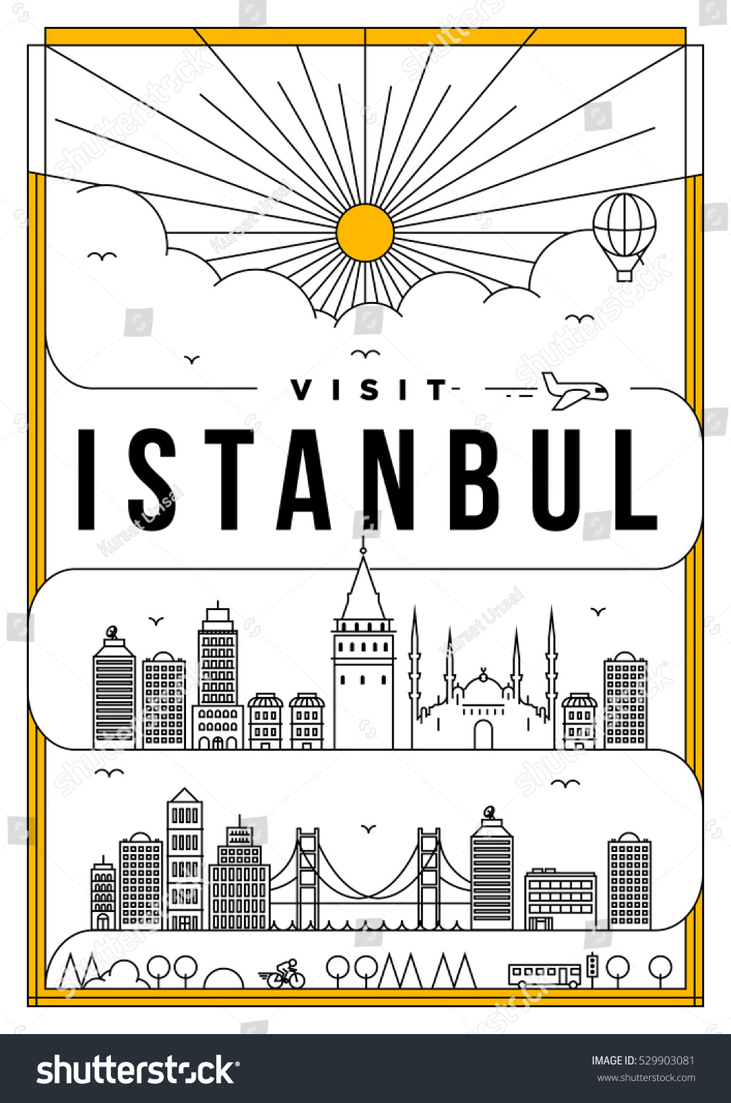 D d poster design - Linear Travel Istanbul Poster Design