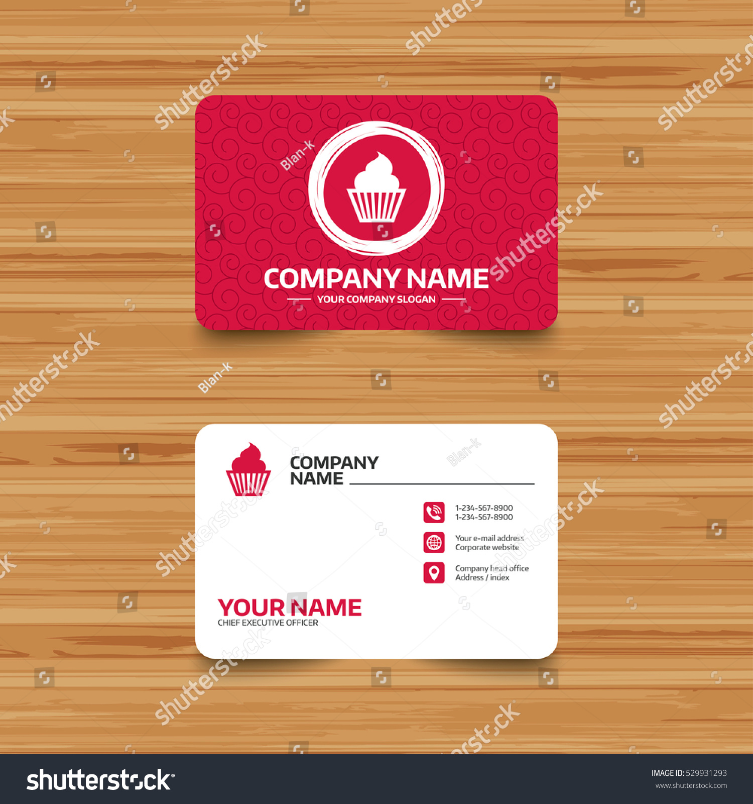 Business card template texture muffin sign stock vector 529931293 business card template with texture muffin sign icon cupcake symbol phone web magicingreecefo Images