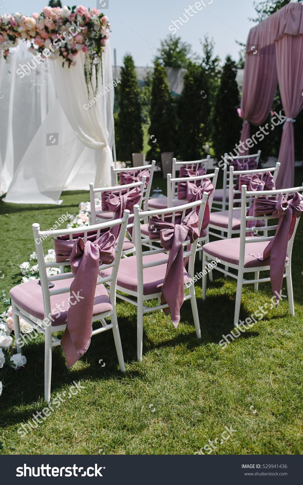 Simple Decor Wedding Many Pink White Stock Photo Edit Now 529941436