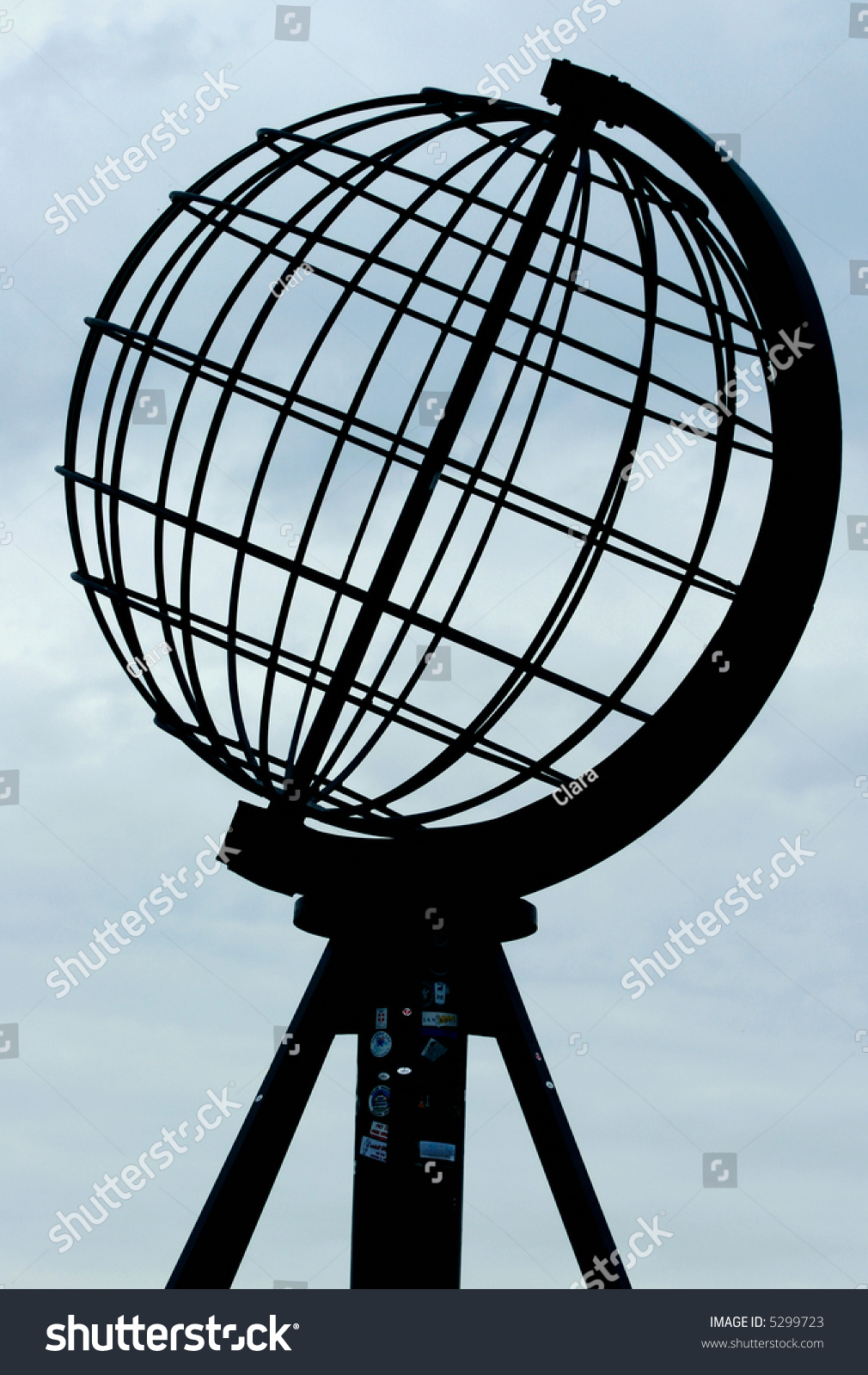 Globe North Cape Symbol Northernmost Point Stock Photo Edit Now
