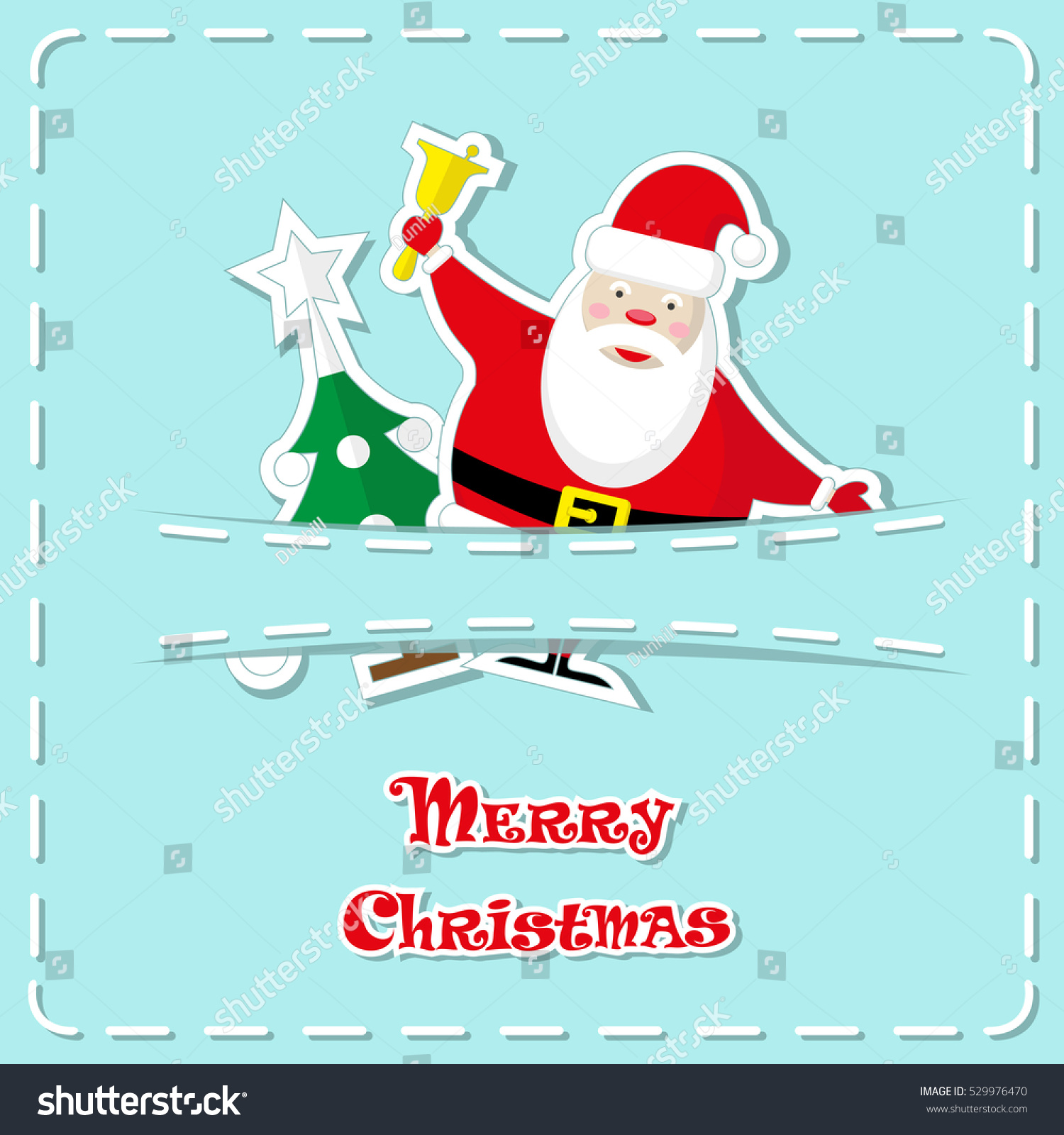 Holiday banner cute figurines santa claus stock vector