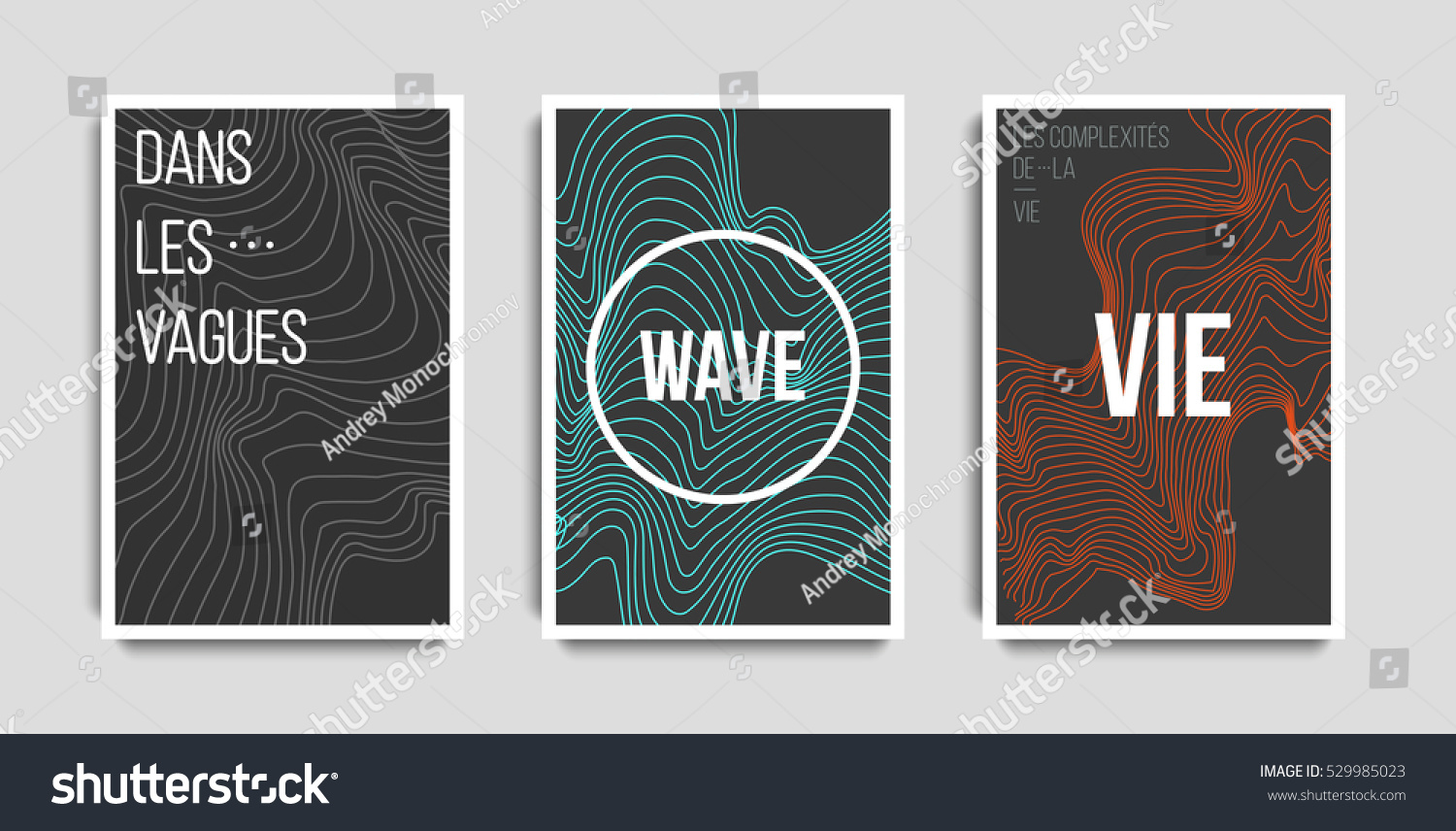 Futuristic posters design set abstract stripes stock vector futuristic posters design set abstract stripes background templates for business card poster colourmoves