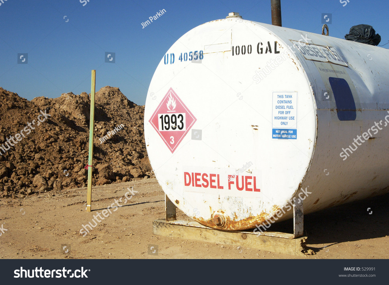 Construction Gas Tank : Diesel fuel storage tank on construction stock photo