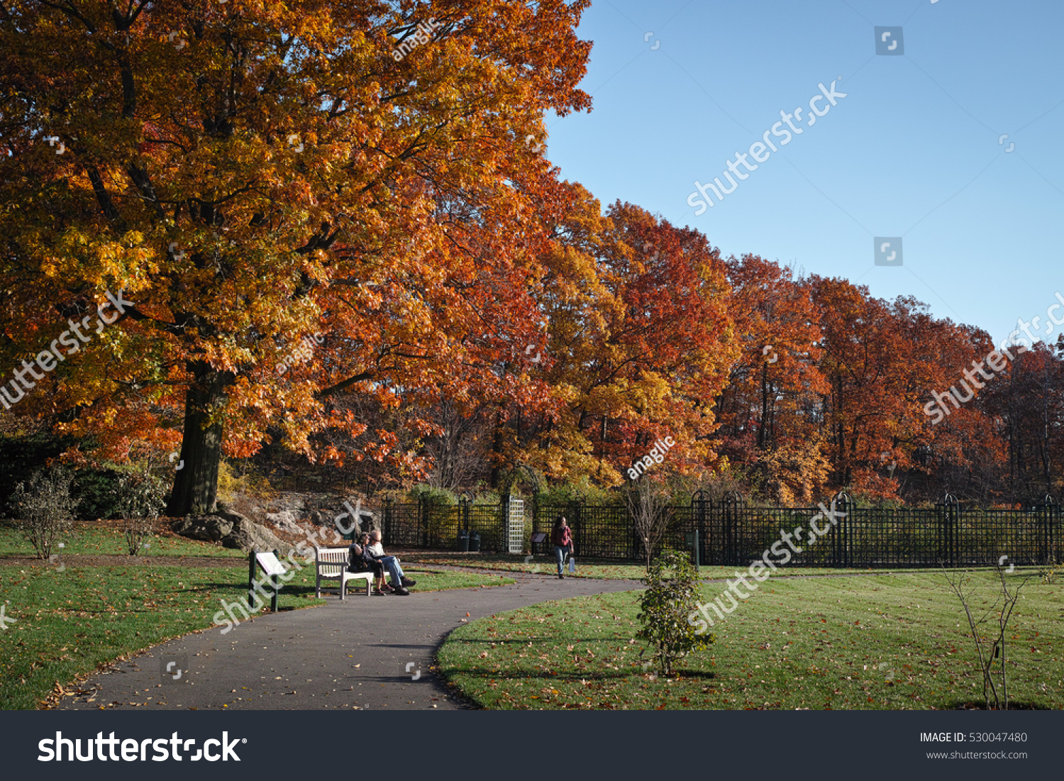 People Visiting New York Botanical Garden Stock Photo (Edit Now ...