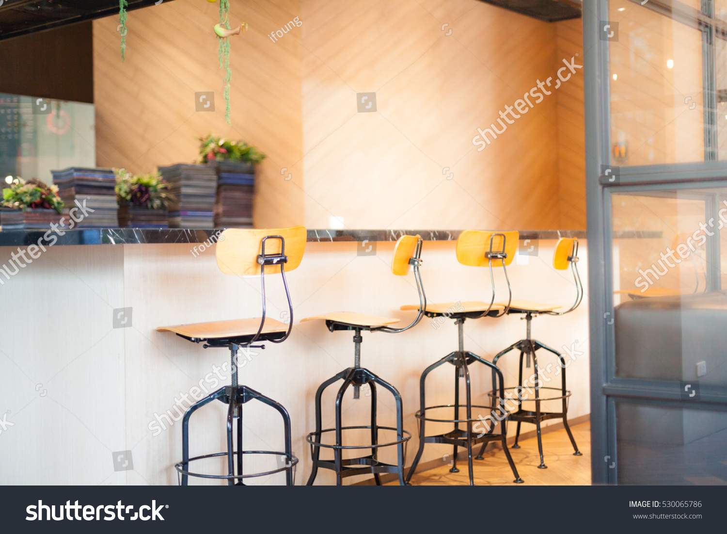 Interior Stool Chair Vintage Bar Soft Stock Photo (Safe to Use ...