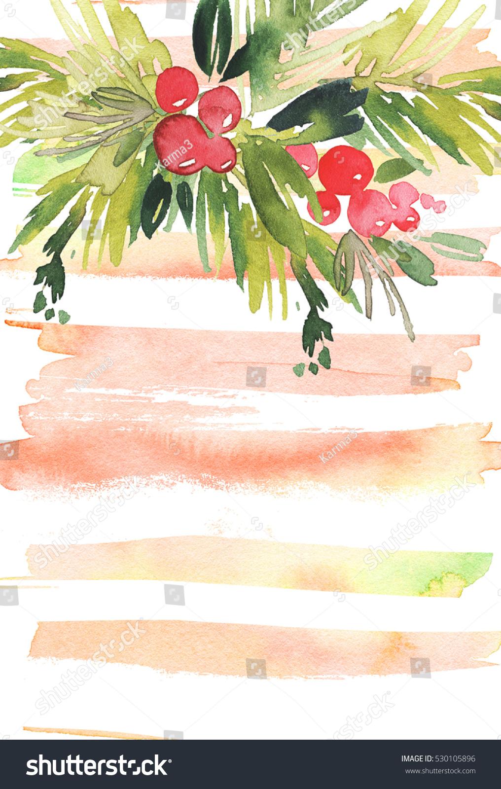christmas card watercolor illustration handmade - Palm Tree Christmas Cards