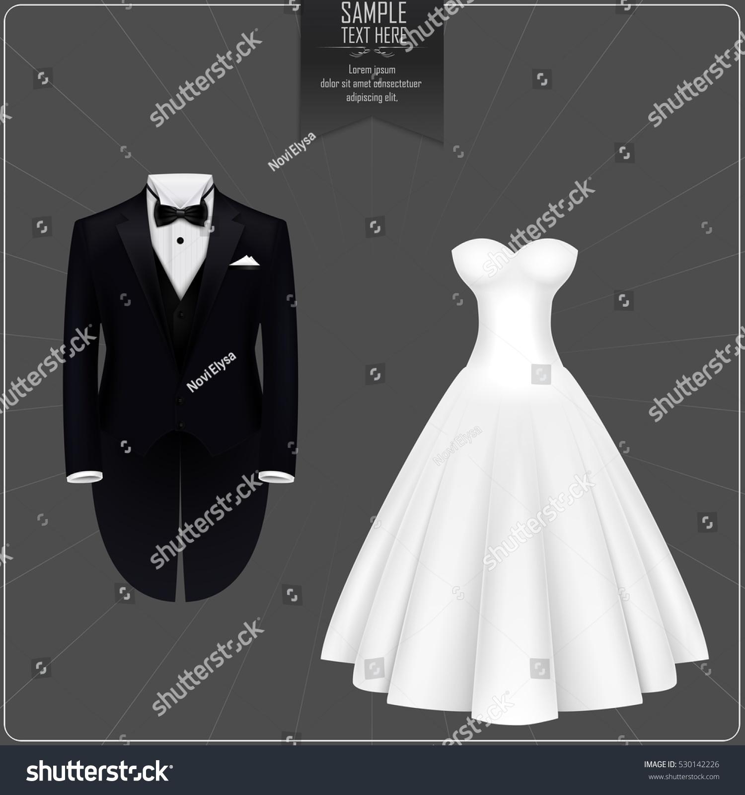Tuxedo Bridal Gown Stock Illustration 530142226 - Shutterstock