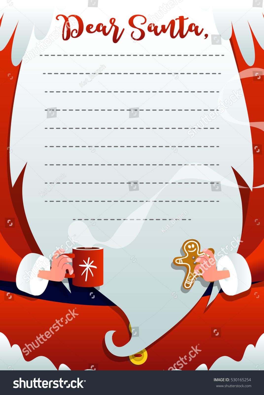 Christmas Greeting Card Santa Claus Merry Stock Vector Royalty Free