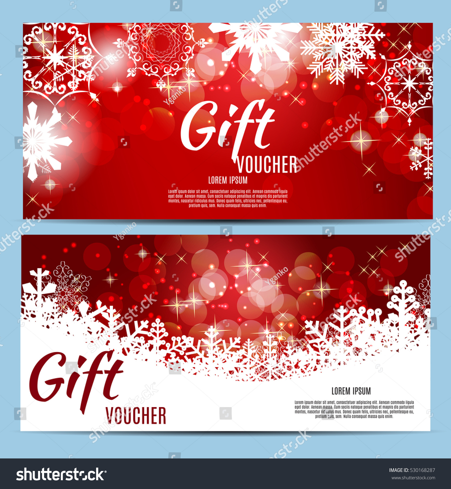 Christmas New Year Gift Voucher Discount Stock Vector Royalty Free
