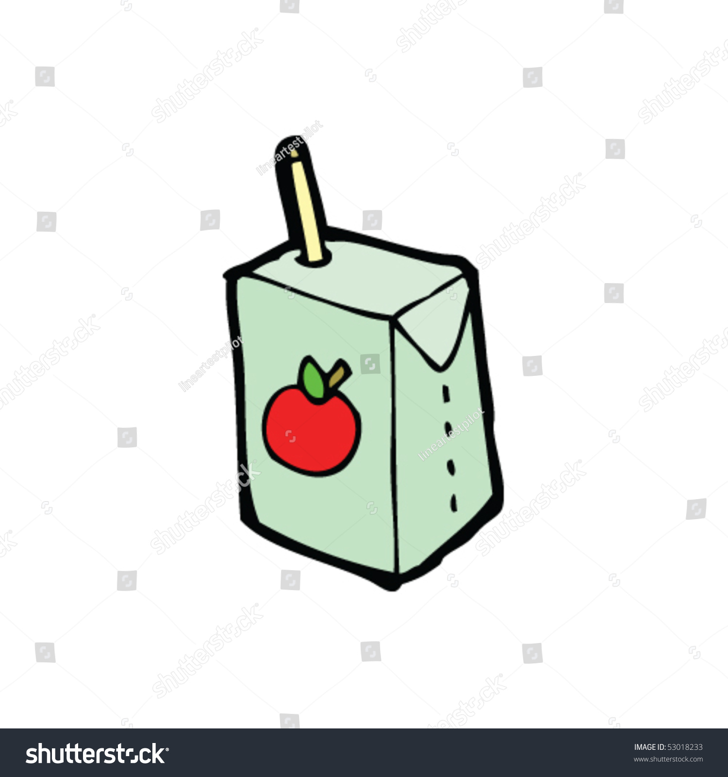 how to draw simple juice box
