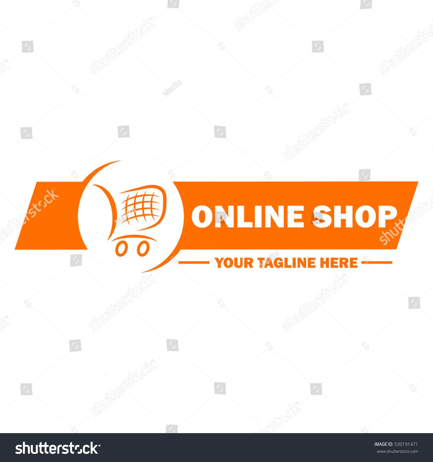 Online Shop Logo Template Design Stock Vector Royalty Free