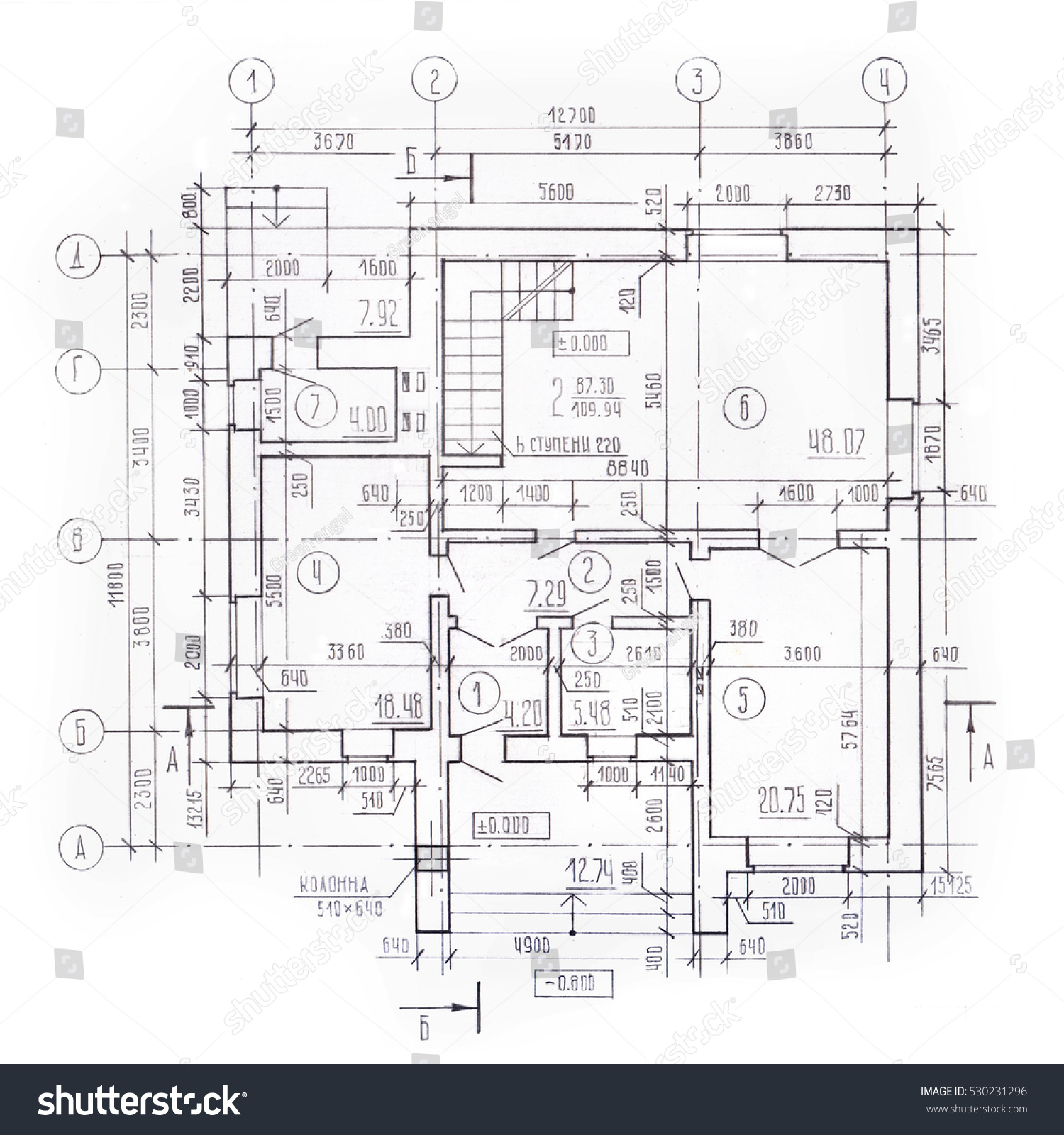 Architectural plan cottage floor plan top stock illustration architectural plan of the cottage floor plan top view detailed working drawing malvernweather Image collections