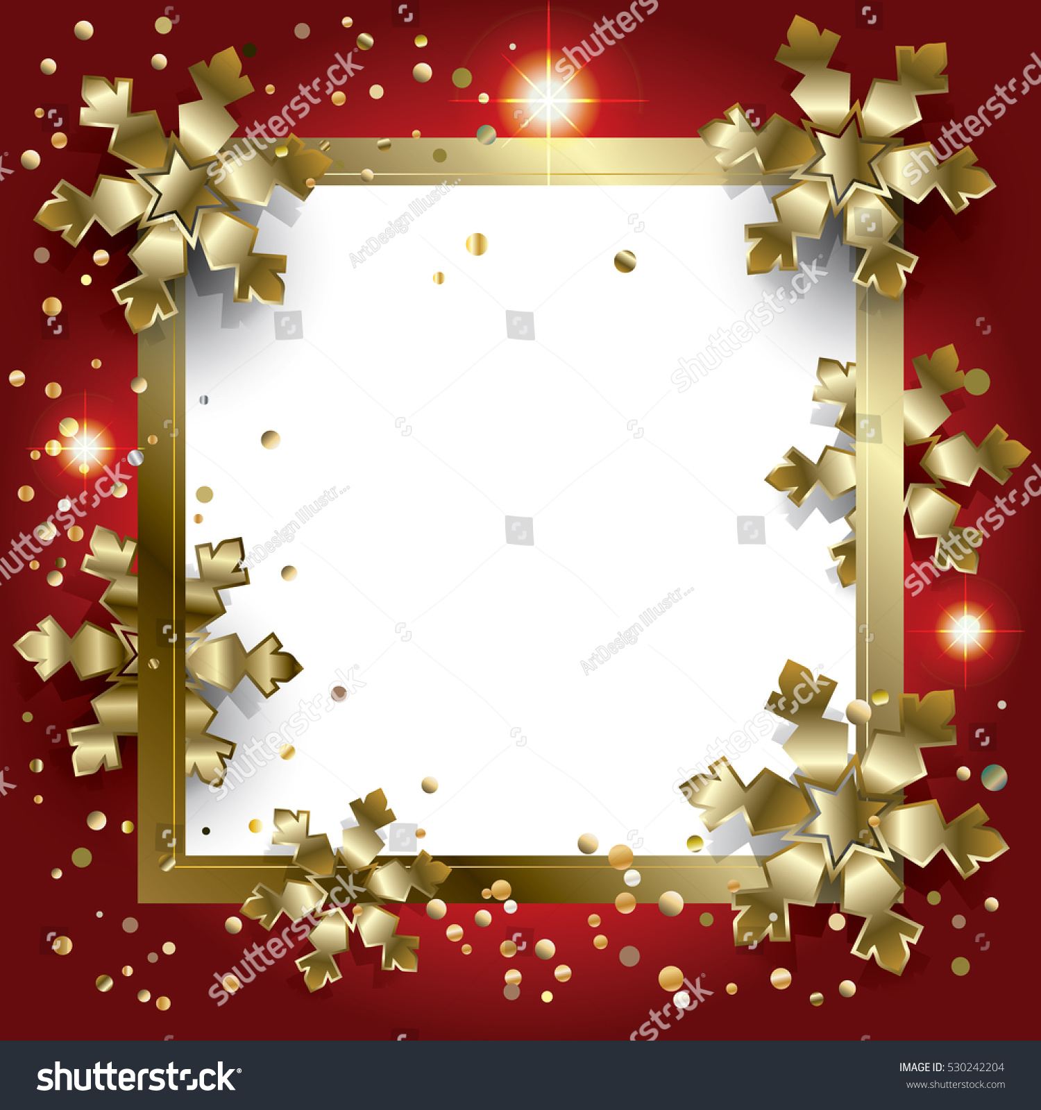 Merry Christmas Happy New Year Frame Stock Illustration 530242204 ...
