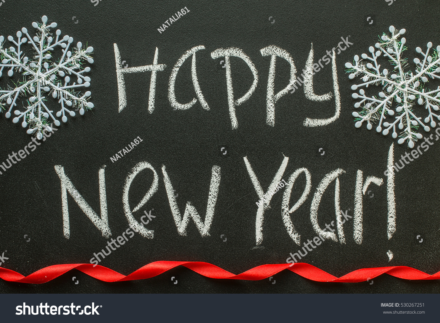 Happy New Year Message Greeting Handwriting Stock Photo 530267251