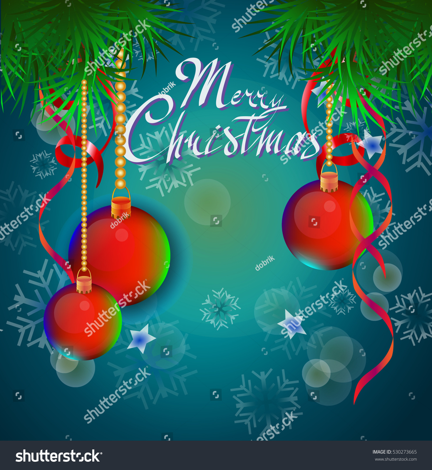 Christmas new year greeting card stock vector 530273665 shutterstock christmas and new year greeting card kristyandbryce Images