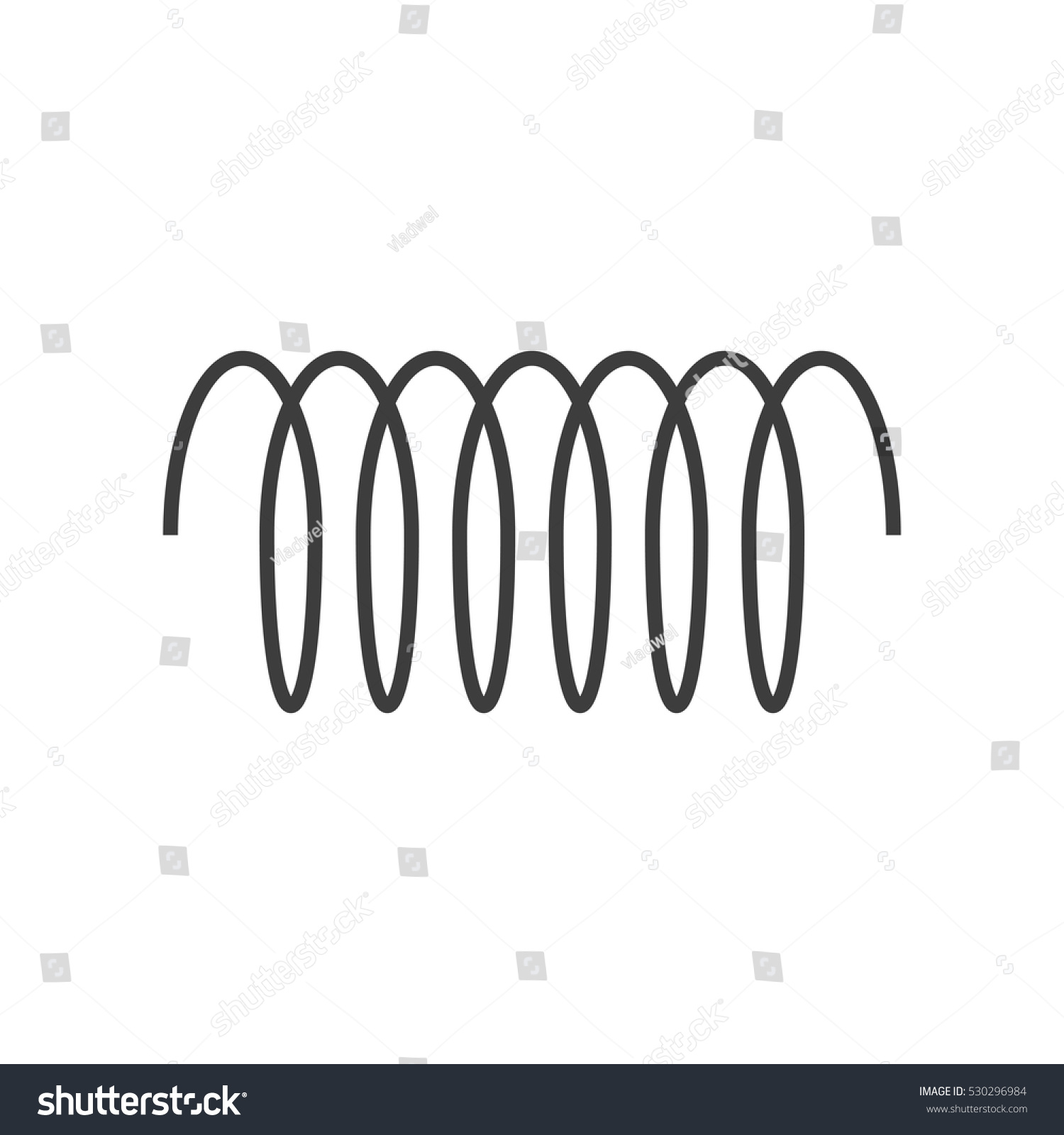 spiral vector icon swirl line outline stock vector royalty free
