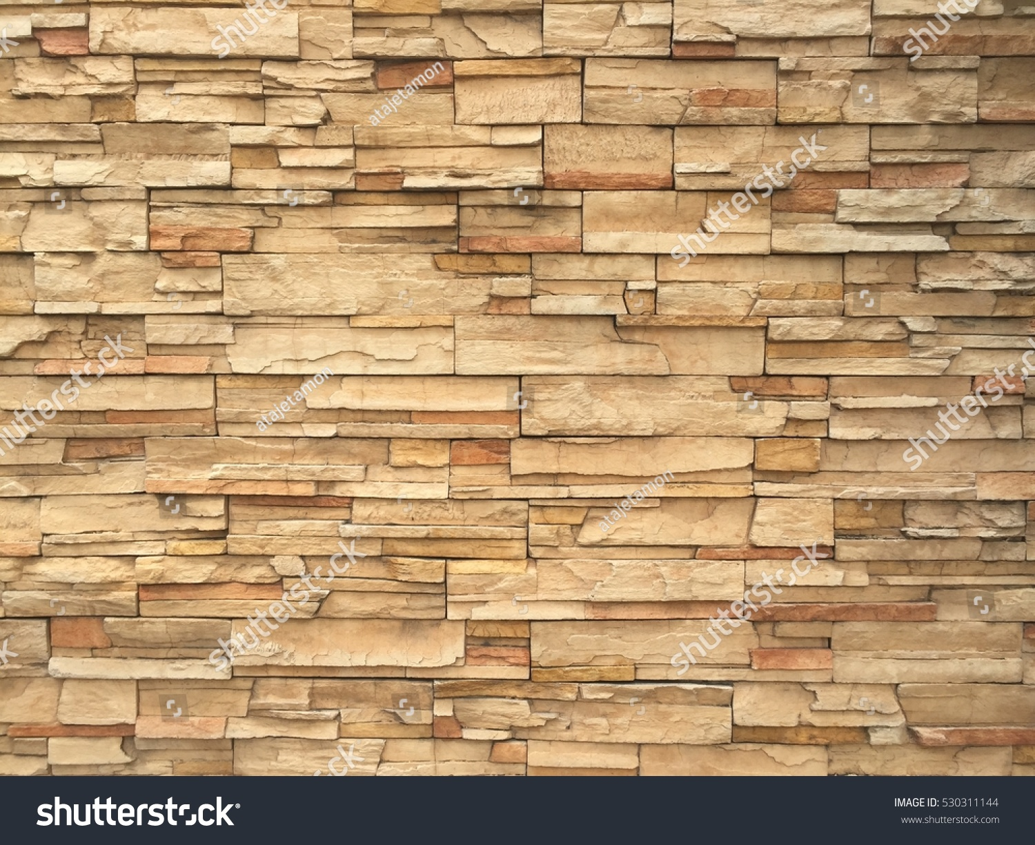 Sandstone Brick Wall Texture Background Stock Photo (Royalty Free ...