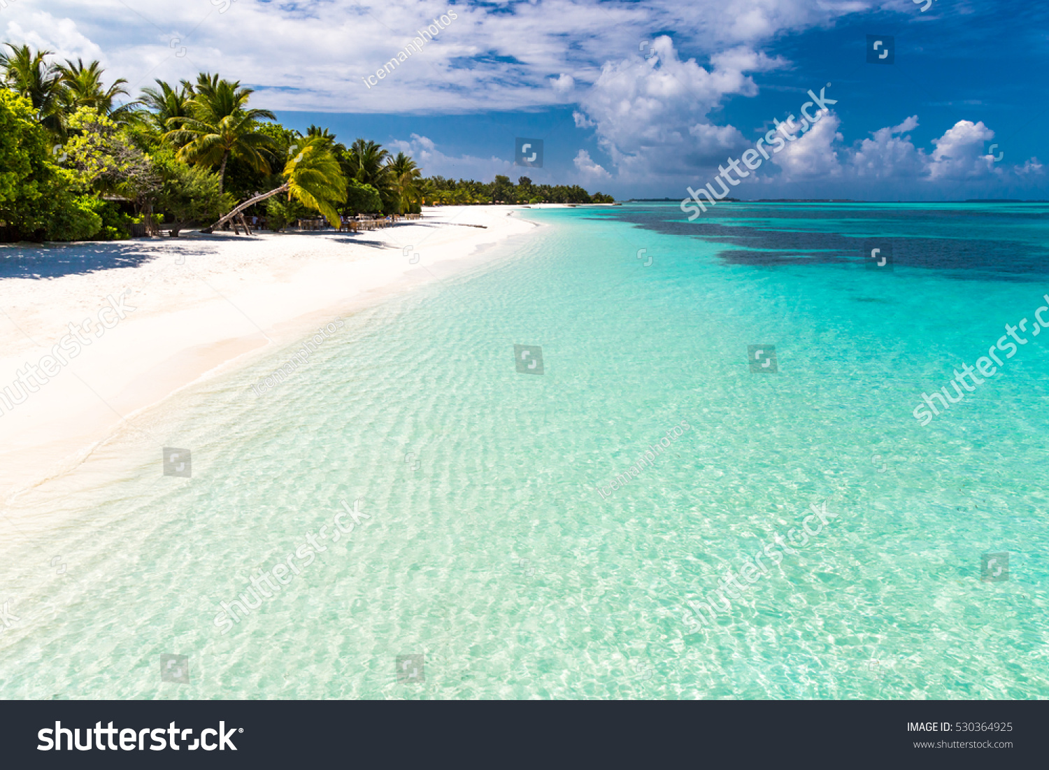 Tropical Island Beach Ambience Sound: Maldives Paradise Beach Perfect Tropical Island Stock