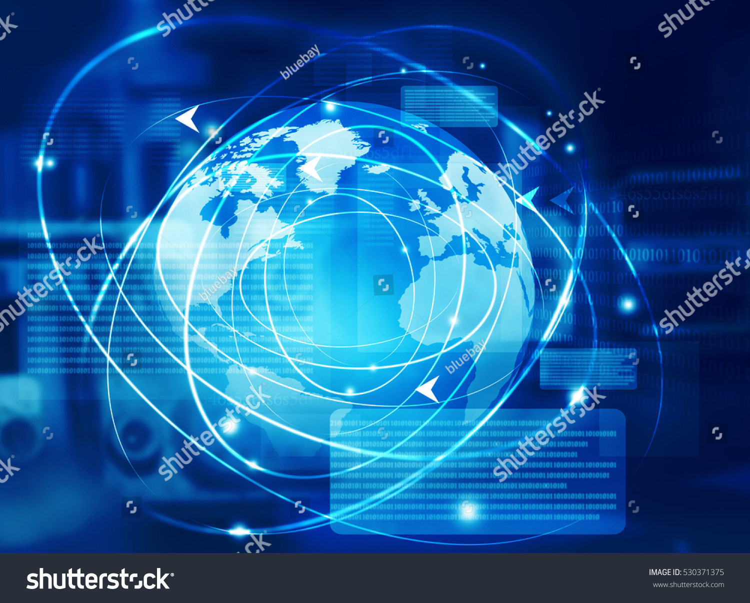 Global Communication Technology Background Stock ...