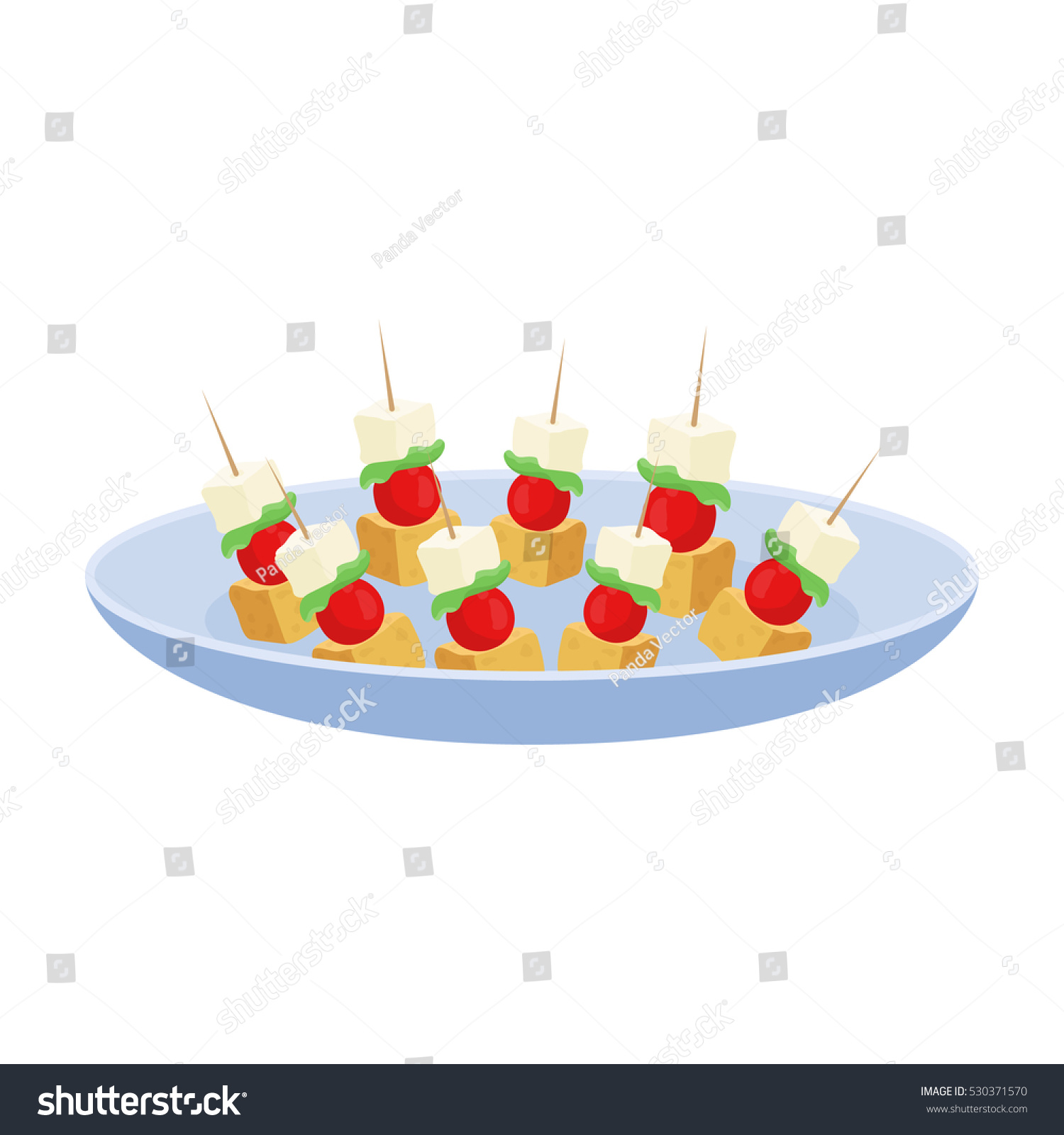 Canape on plate icon cartoon style stock vector 530371570 for Canape vector download