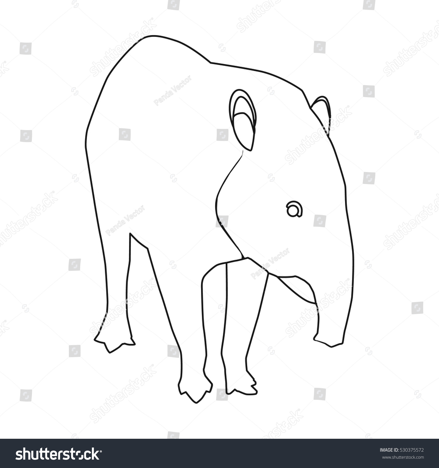 Mexican tapir icon outline style isolated stock vector 530375572 mexican tapir icon in outline style isolated on white background mexico country symbol stock vector biocorpaavc