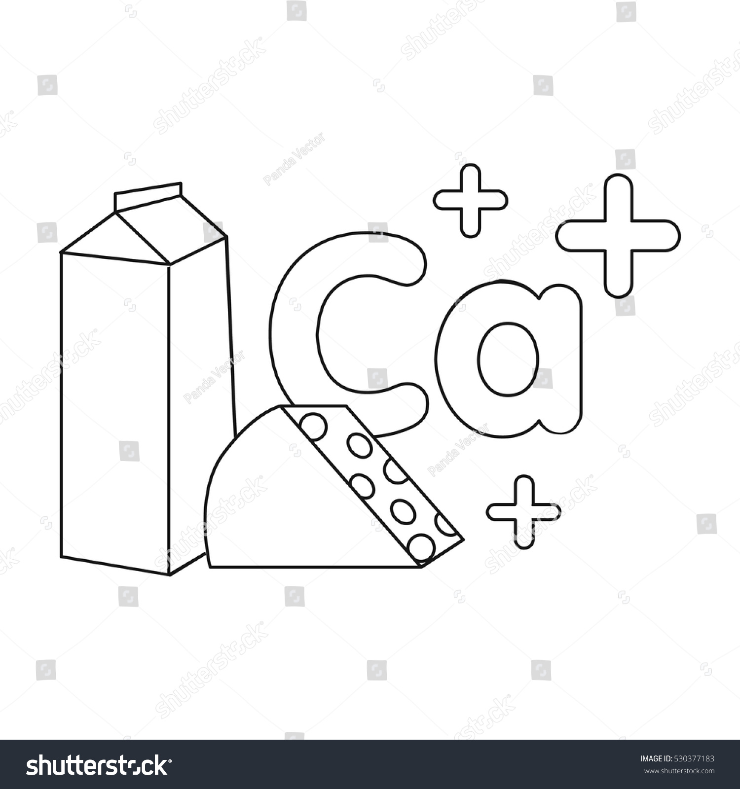 Sources calcium icon outline style isolated stock vector 530377183 sources of calcium icon in outline style isolated on white background dental care symbol stock buycottarizona Choice Image