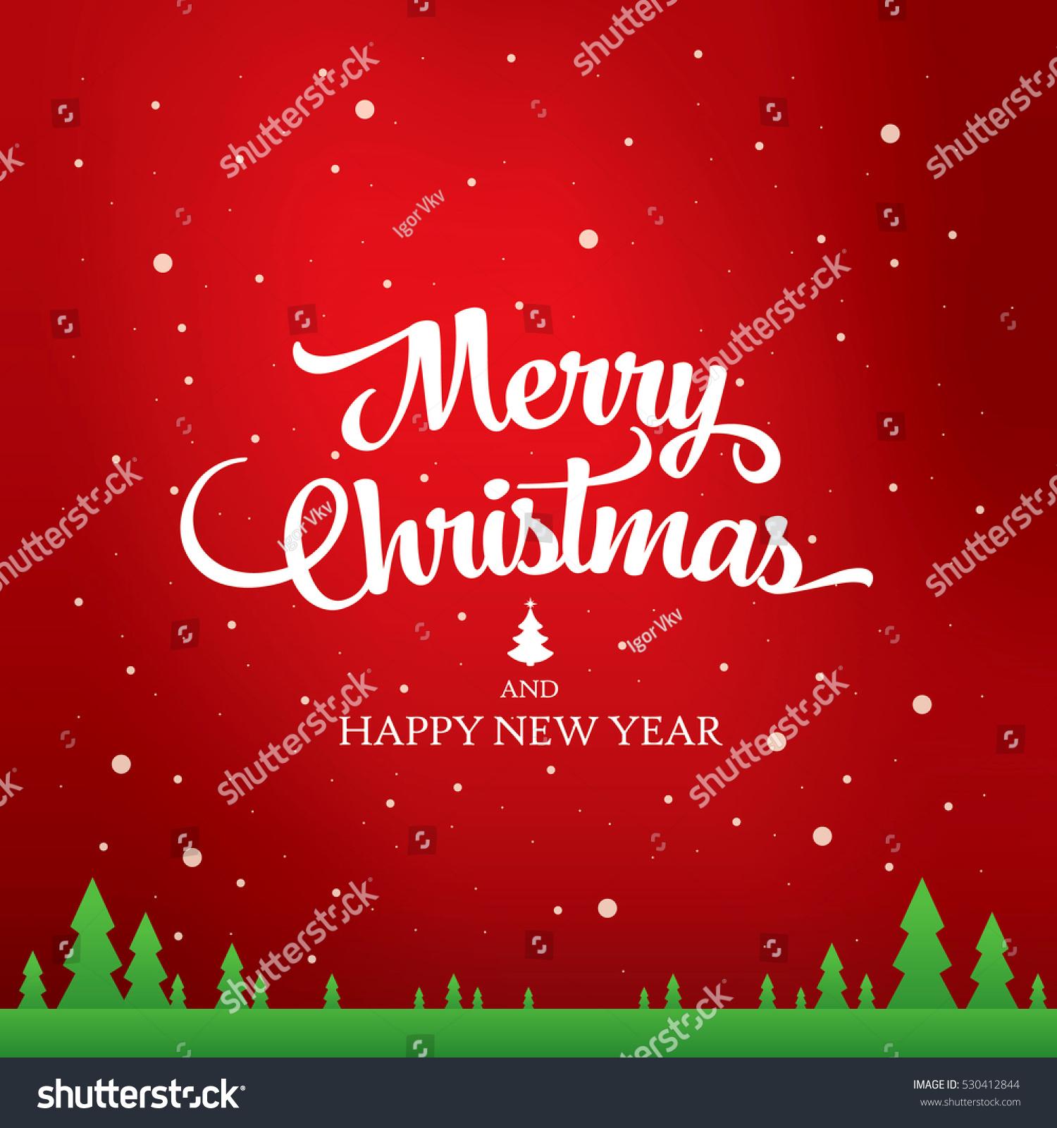Christmas Greeting Card Merry Christmas Happy Stock Vector Royalty