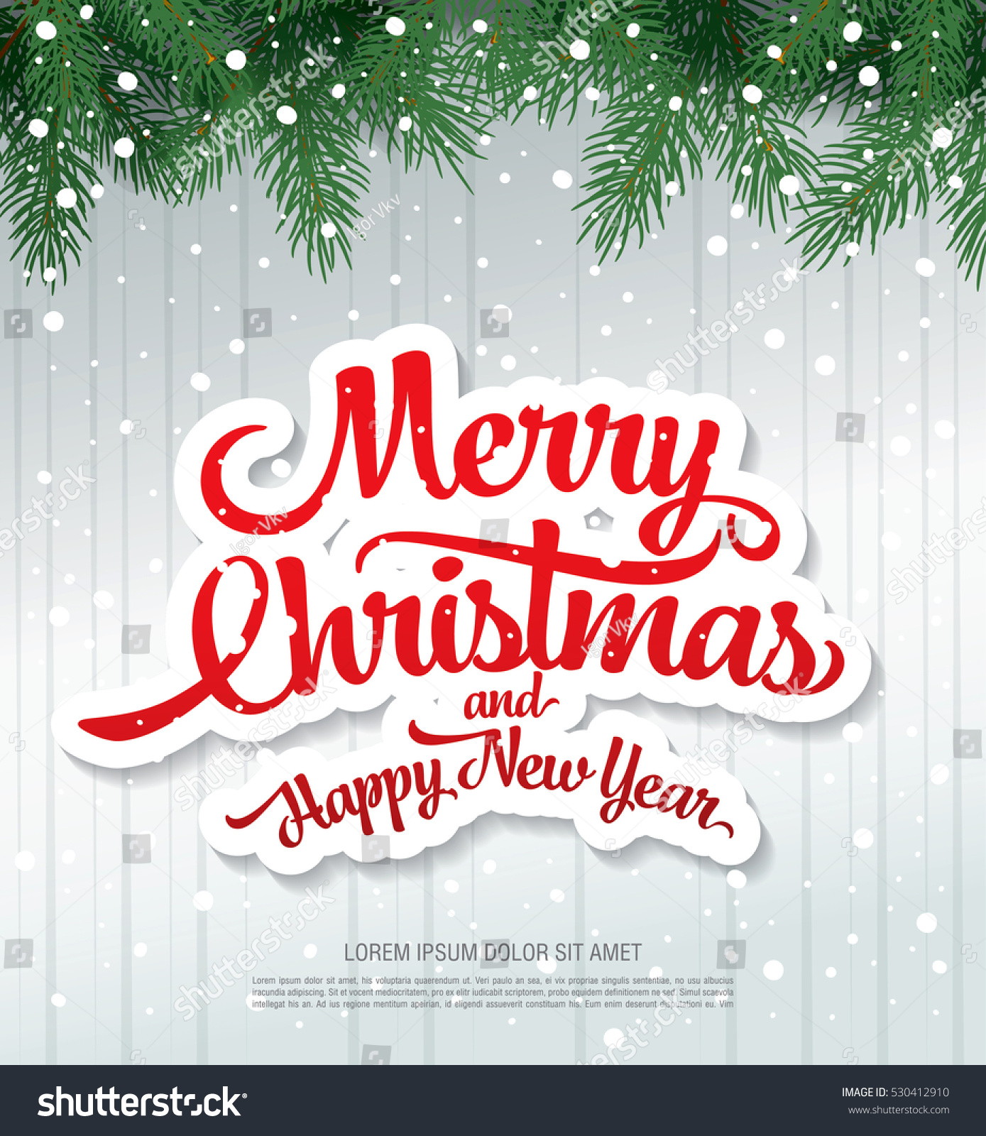 Christmas greeting card merry christmas happy stock vector christmas greeting card merry christmas and happy new year reheart Image collections