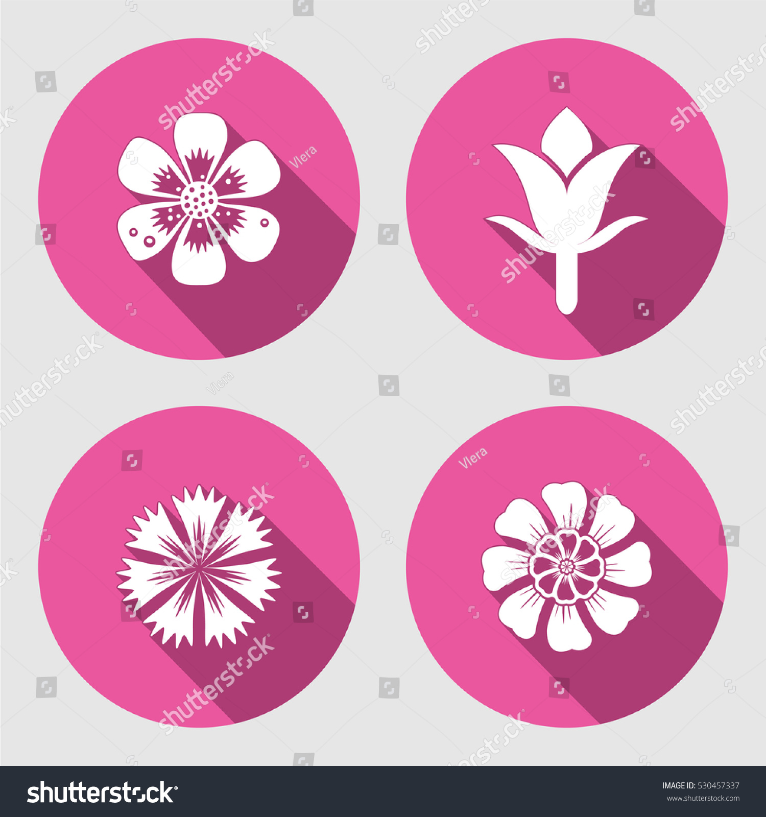 Flower icons set chamomile daisy poppy stock vector 530457337 flower icons set chamomile daisy poppy cloves spring flowers floral biocorpaavc Choice Image