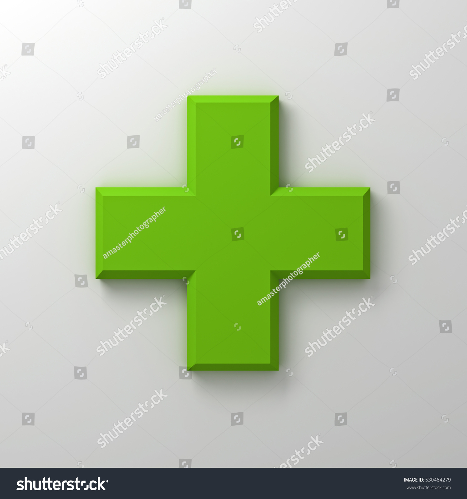 Green Plus Sign Abstract On White Stock Illustration 530464279