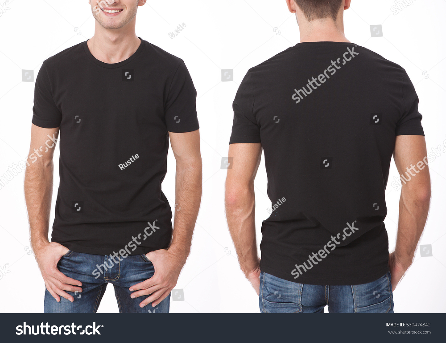 Black t shirt designs - T Shirt Design And People Concept Close Up Of Young Man In Blank Black