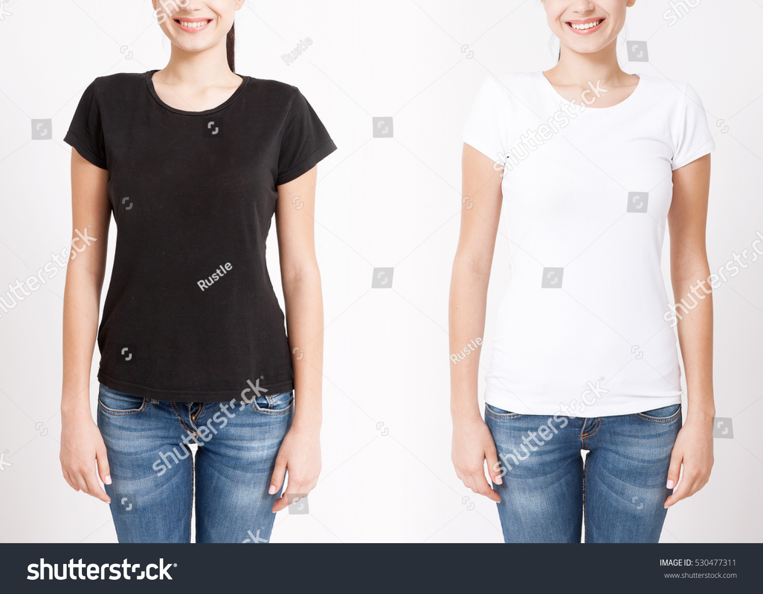 Shirt design white - T Shirt Design And People Concept Close Up Of Young Woman In Shirt Blank
