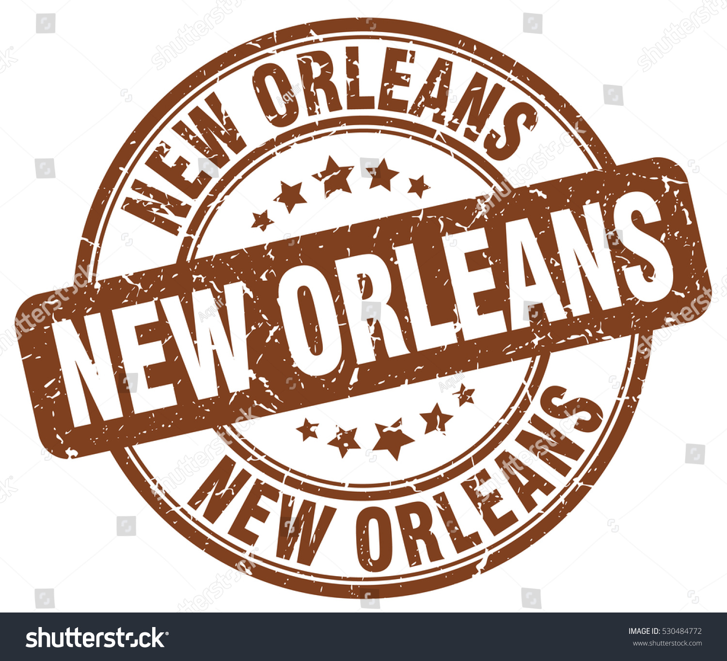 New orleans stamp brown round grunge stock vector 530484772 new orleans stamp brown round grunge vintage new orleans sign buycottarizona Images