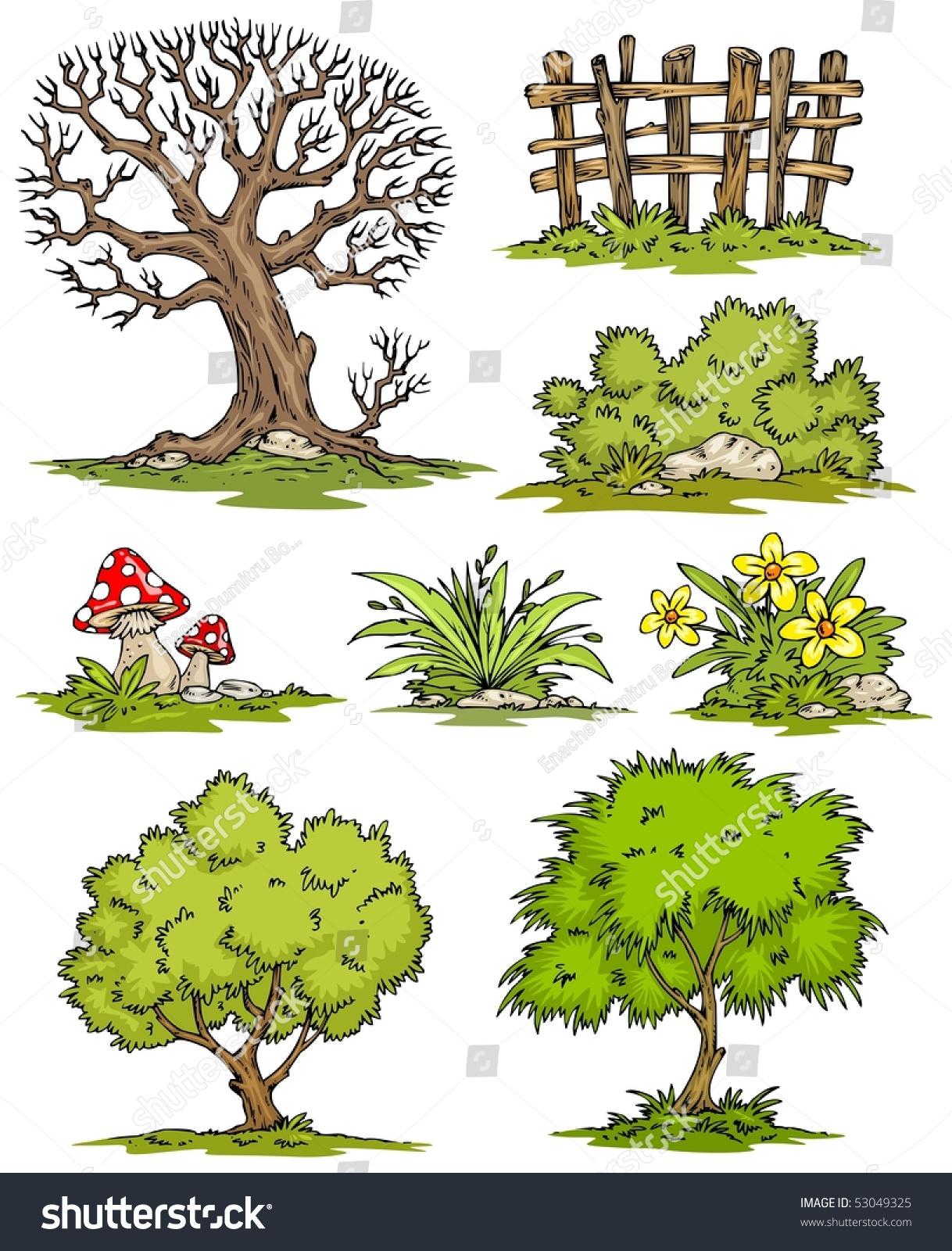 видео как нарисовать кустарник