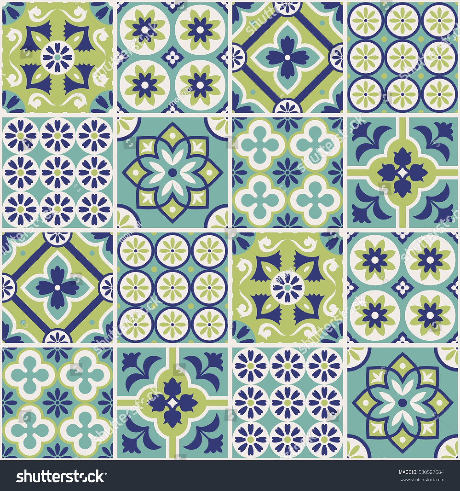 Decorative tile pattern design. Vector illustration. | EZ Canvas