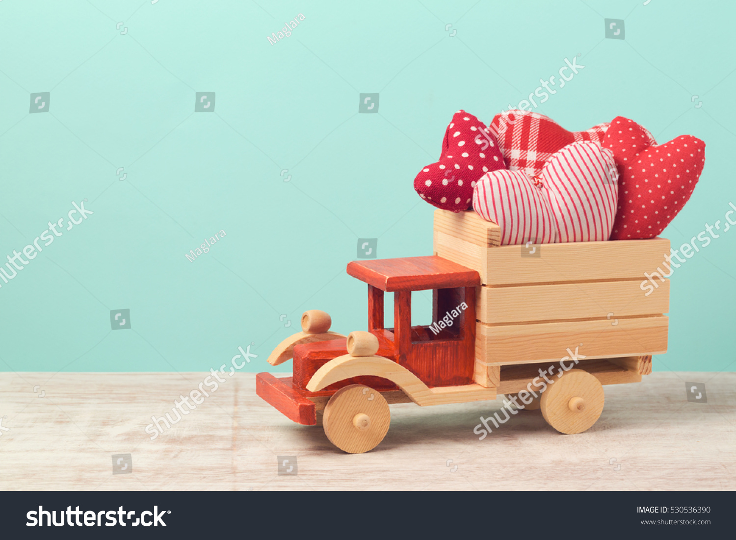 Valentine S Day Vintage Toys : Valentines day holiday concept toy truck stock photo