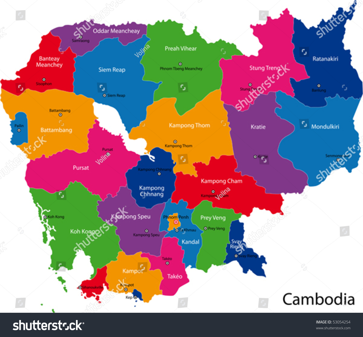 clipart map of cambodia - photo #31