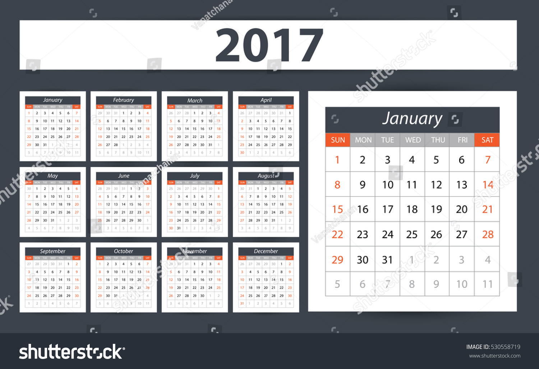 Calendar Planner Design : Calendar planner design vector illustration stock