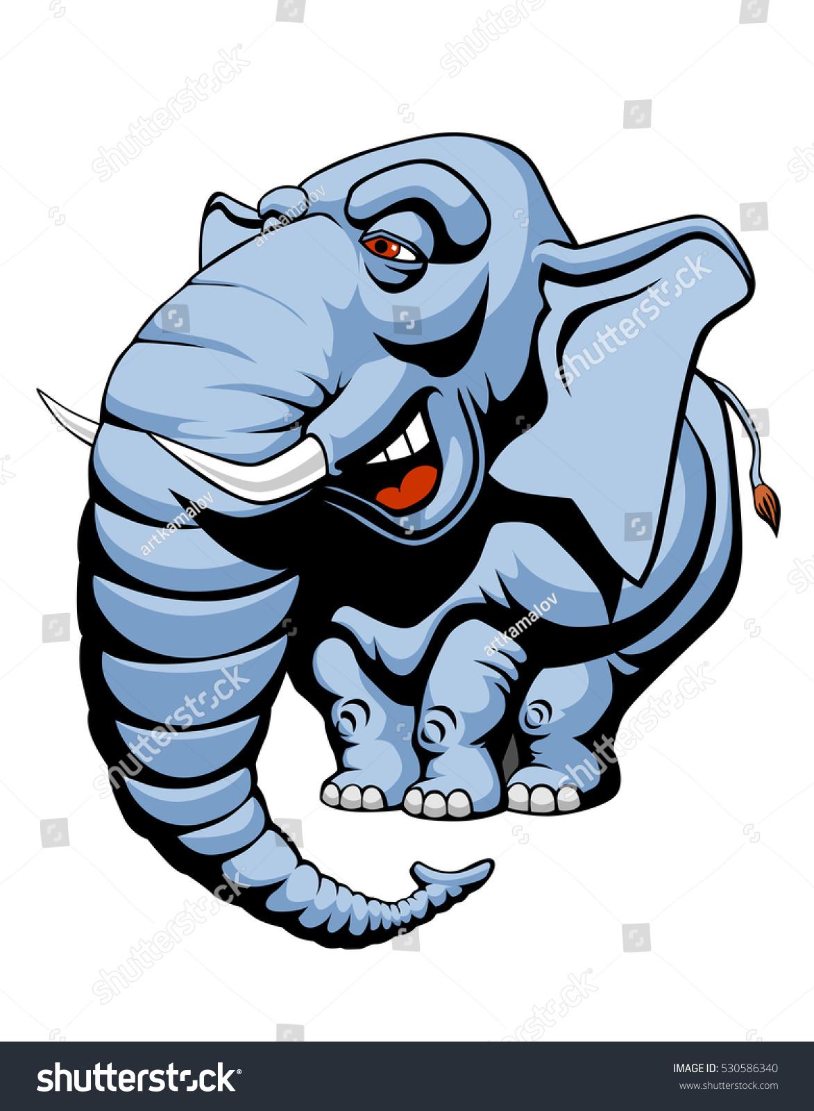 vector illustration cartoon elephant stock vector 530586340