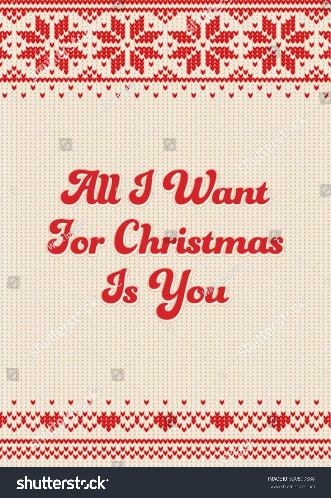 All Want Christmas You Lettering Design Stock Vector (Royalty Free ...