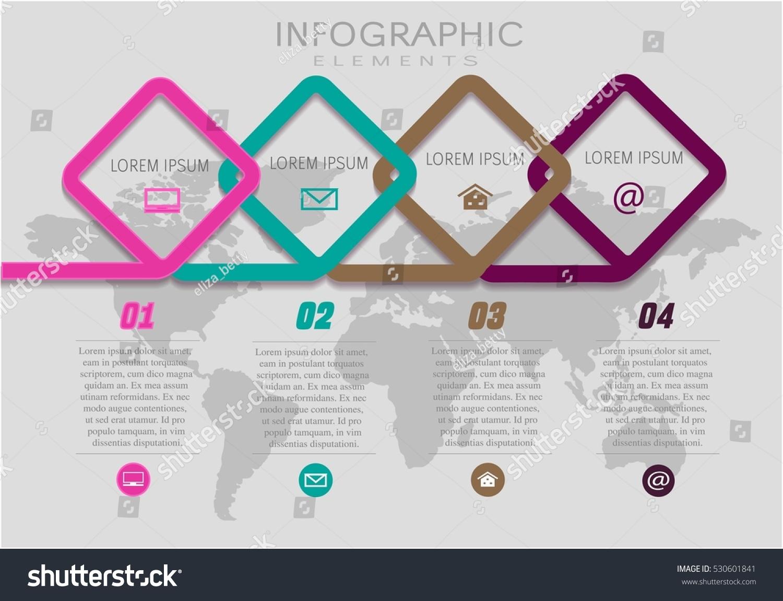 Vector Elements Infographic Template Diagram Graph Stock Vector ...