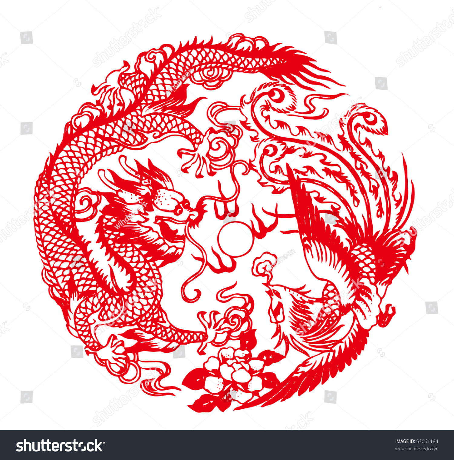 Chinese Paper Crafts Dragon