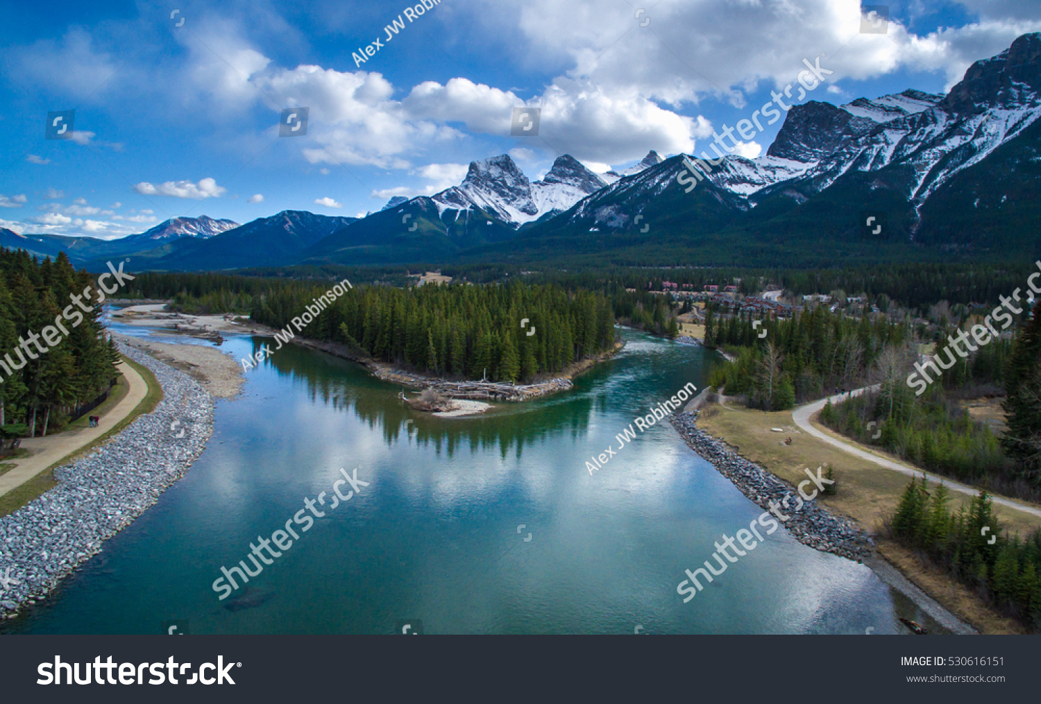 Canmore Ab Three Sisters Stock Photo (Edit Now) 530616151