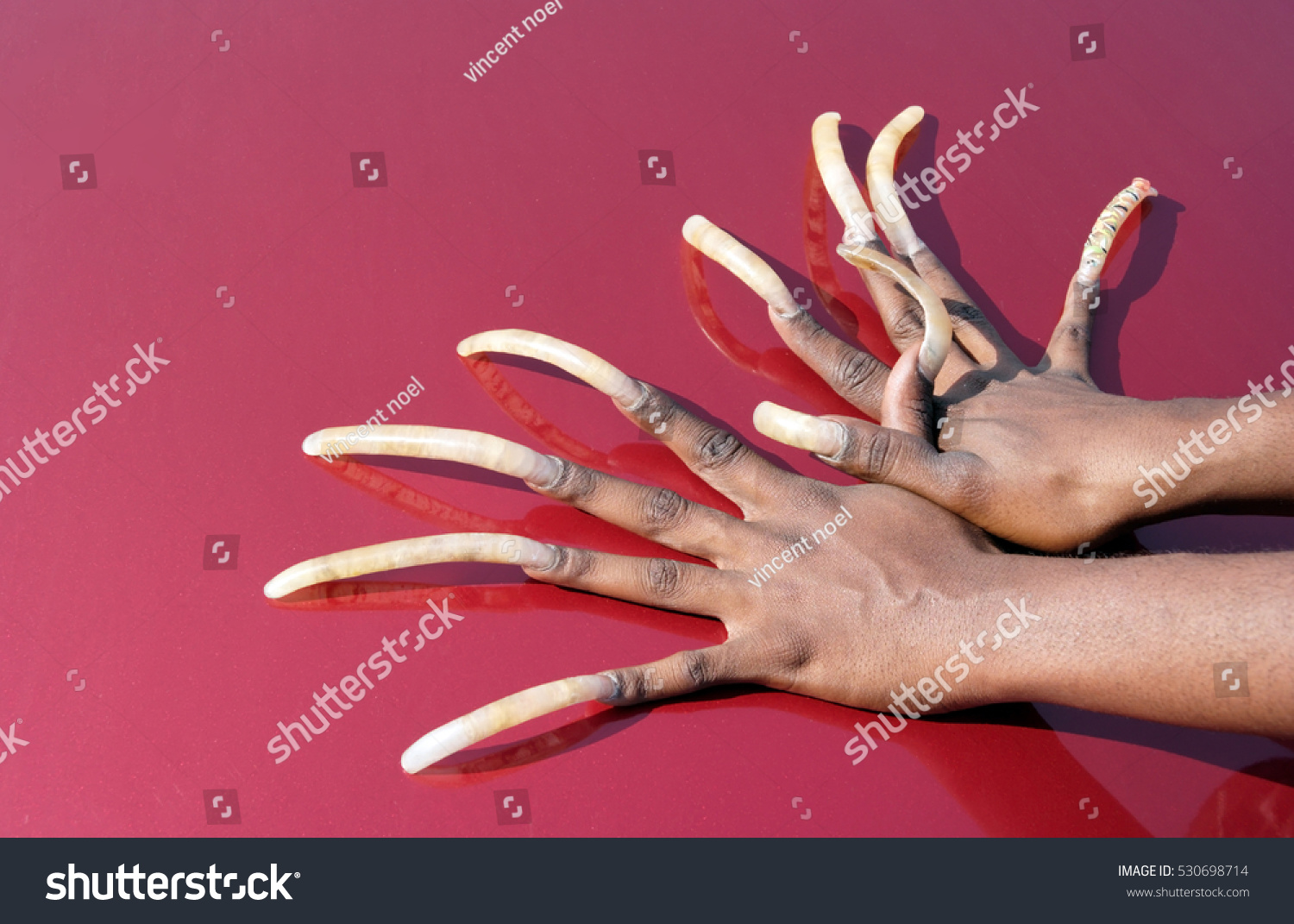 African American Womans Very Long Fingernails Horizontal Stock Photo ...