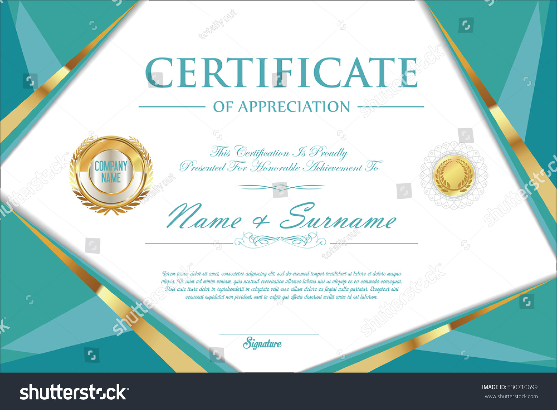 Certificate Retro Design Template Stock Vector Hd Royalty Free