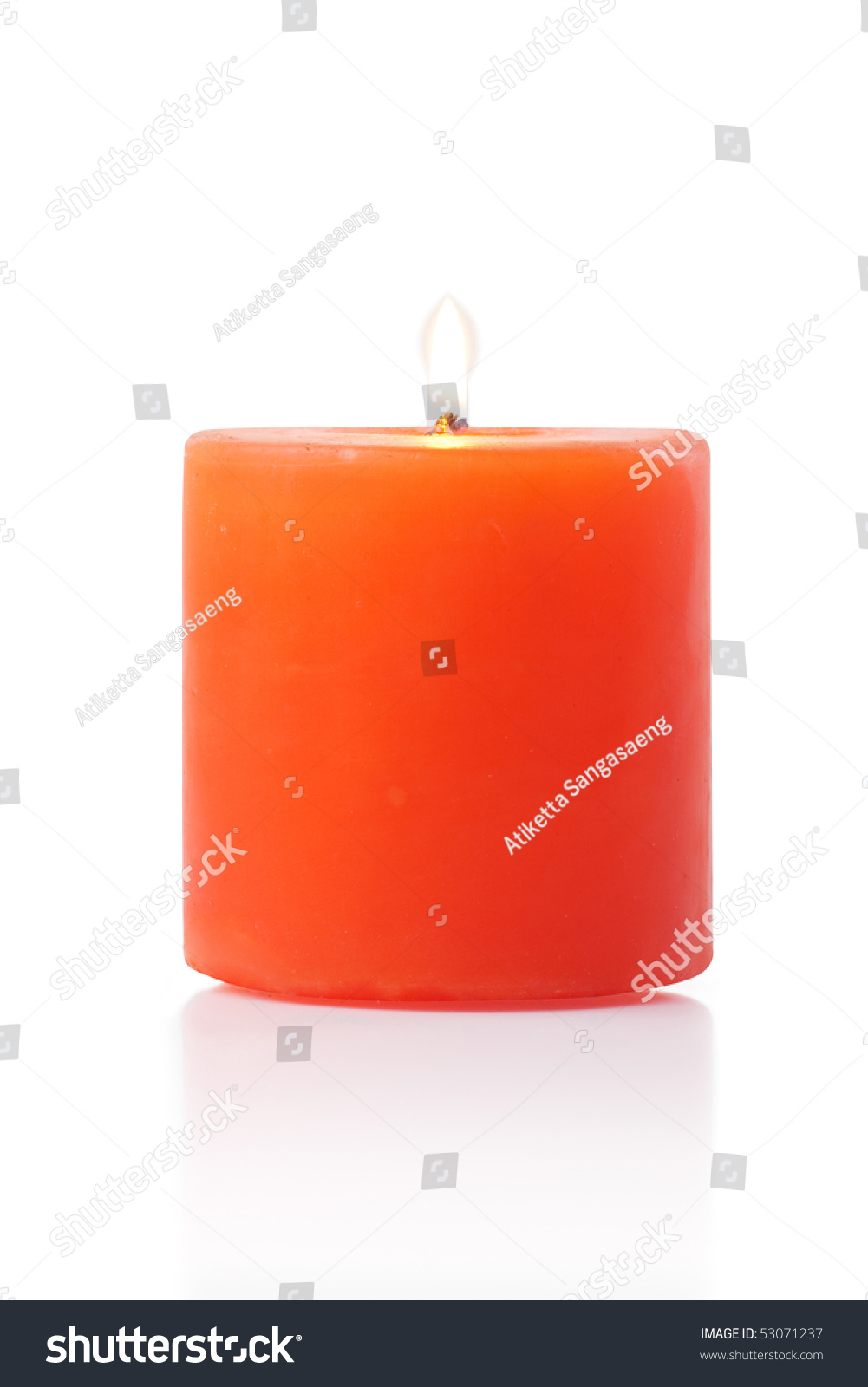 red candle white background - photo #11
