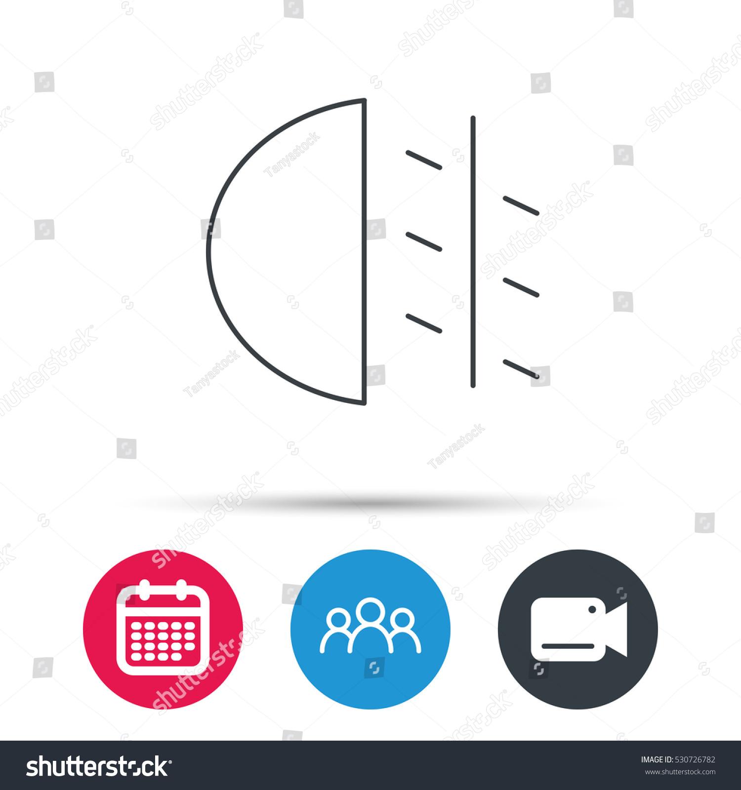 Fog Lights Icon Car Beam Sign Stock Vector Royalty Free 530726782