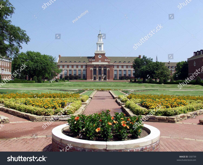 Edmon Low Library Formal Gardens Oklahoma State
